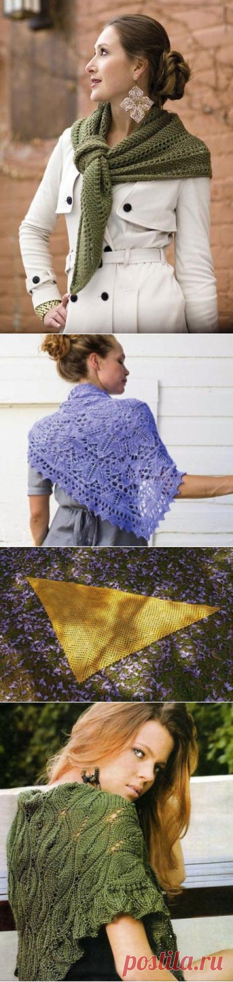 Вязание косынки спицами: 18 моделей с описанием и схемами вязания. / knitka.ru