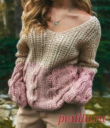 Модные, стильные, эффектные! Подборка вязаных пуловеров | Идеи рукоделия | Яндекс Дзен.Идеи.