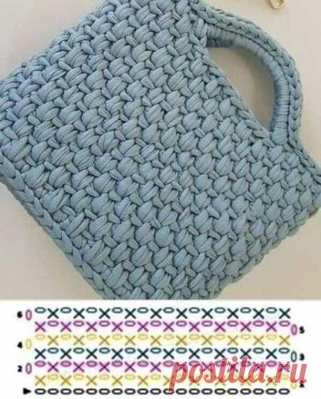 Необычный узор для сумочки крючком