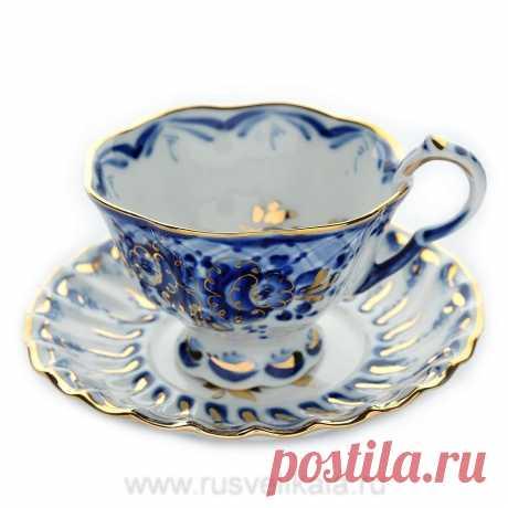 Чайная пара «Лесная поляна» Посуда Гжель-1700 Р