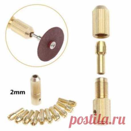 10Pcs 0.5-3.2mm Micro Twist Hand Drill Kit Chuck Electric Drill Bit Collet+2mm | eBay