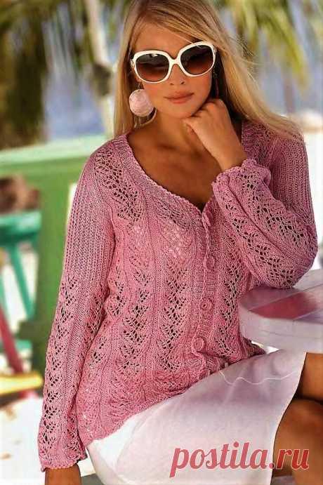 Красивые ажурные узоры в моделях спицами для творческого вдохновения. Пуловеры, жакеты, кардиган, накидка-пончо. | Ирина СНежная & Вязание | Яндекс Дзен