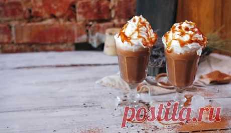 Холодный шоколад с карамелью