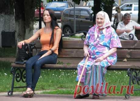 Молодость и зрелость сели на скамейку