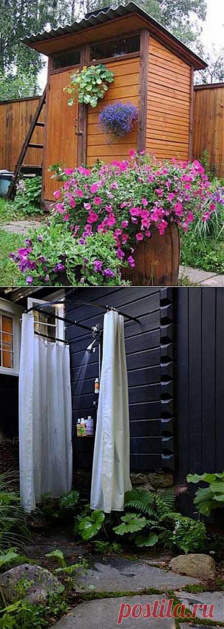 Как построить летний душ для дачи