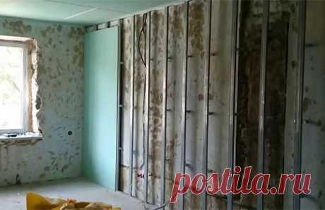 Каркас из профиля под гипсокартон – подробная инструкция по сборке стеновой конструкции от профессионала