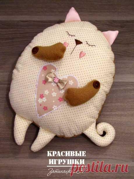 Мастер класс по пошиву кота подушки - запись пользователя admin (Администратор) в сообществе Мир игрушки в категории Разнообразные игрушки ручной работы