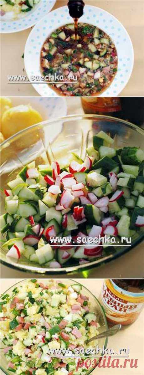 Окрошка с копчеными сосисками | рецепты на Saechka.Ru
