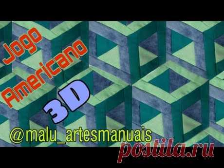 Jogo Americano de Retalhos - 3D