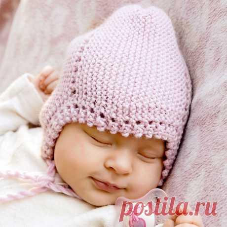 Шапочка для младенца - схема вязания спицами. Вяжем Шапки на Verena.ru