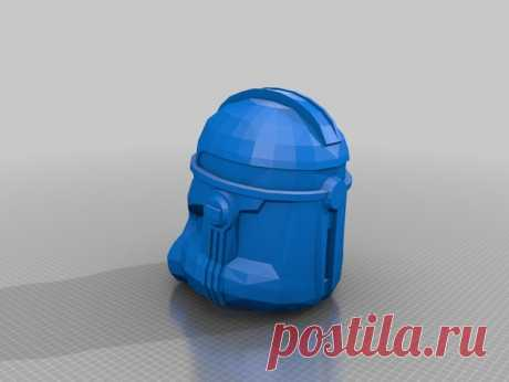 Star Wars Clone 2 Helmet by Jace1969 Found this file on the internet a couple of years back with the intention of improving on it. With very little time and a ton of other projects I'm hoping some one with the skill set out there will improve on smoothing the shape and perhaps prep it to be printed. :)