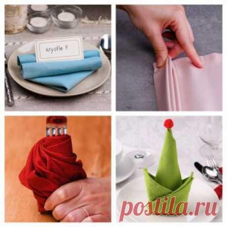 (1) 10 easy napkin folds for any dinner party!