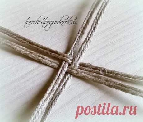 Плетеная корзинка из джута