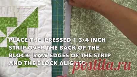 Quilt-as-you-go with narrow sashing
