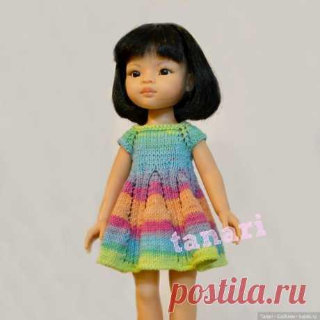 Вяжем спицами платье для Paola Reina. Описание вязания / Вязание для кукол / Бэйбики. Куклы фото. Одежда для кукол