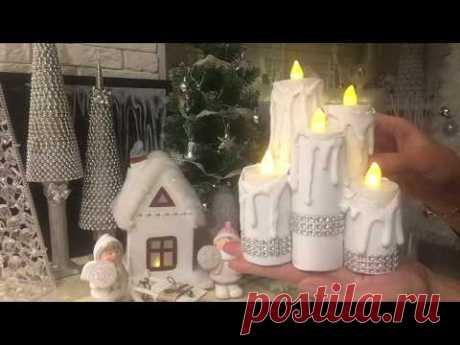 Новогодний декор! Свечи, Домики из втулки от туалетной бумаги! DIY Christmas decor