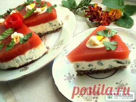 Закусочный сырно-томатный торт. Автор: Людмила Головченко