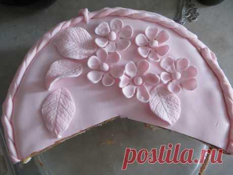 украшение торта сахарной мастикой
