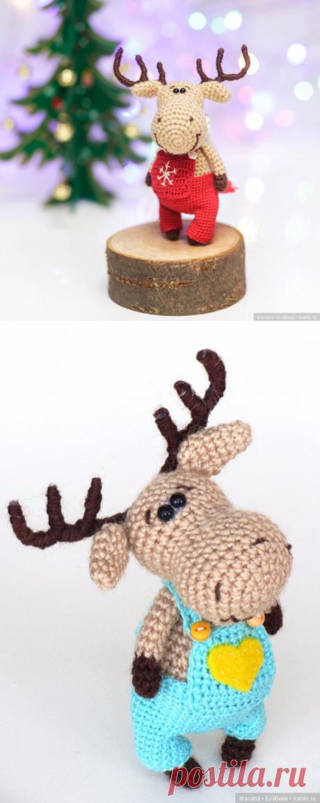 Маленький лось - схема вязания игрушки / Схемы вязания игрушек / Бэйбики. Куклы фото. Одежда для кукол