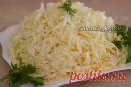 """Салат """"Лебединый пух"""", очень нежный и вкусный салатик на скорую руку"""
