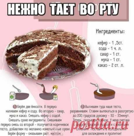 Дорогие мои читатели! Очень семья любит этот тортик, приготовьте один раз и рецепт приживется у Вас, как прижился у меня!
