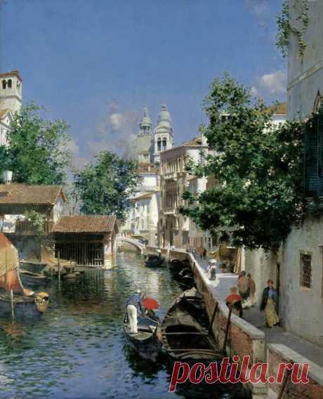 Здесь всё исполнено простора морских кровей, морских глубин... Итальянский художник Rubens Santoro (1859-1942)