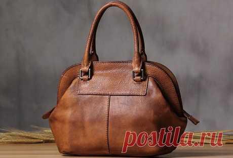 Handmade Leather handbag purse shoulder bag for women leather shopper | EverHandmade