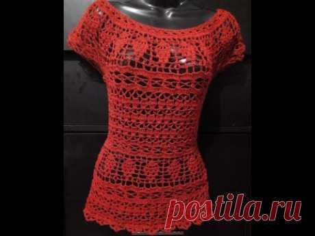 Tutorial Blusa Uvitas Facil parte 2 Crocheteando con la Comadre