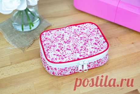 Pretty Box Pouch {free sewing pattern with a tutorial} — SewCanShe | Free Sewing Patterns and Tutorials