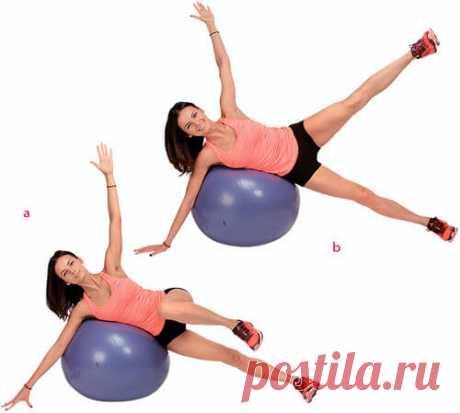 Польза фитбола-мяча, лучшие упражнения для всех мышц тела