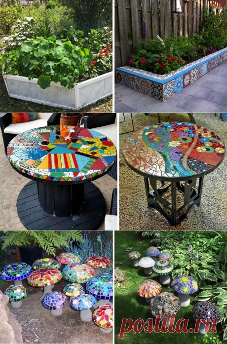 Остатки керамической плитки: зачем выбрасывать то, что может пригодиться на даче – оригинальные варианты использования | Dream house | Яндекс Дзен