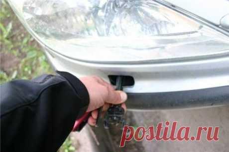 Самостоятельный ремонт омывателя фар у Peugeot 607