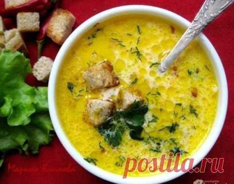 Как приготовить сливочно-сырный суп с ветчиной и сухариками - рецепт, ингридиенты и фотографии