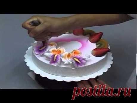 ▶ Украшение тортов 5 - YouTube