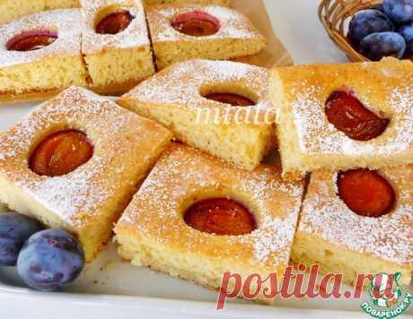 Быстрый сливовый пирог – кулинарный рецепт