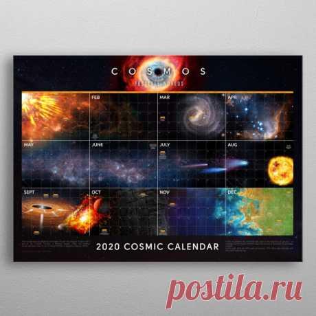 Cosmic Calendar 2020 Space Poster Print | metal posters - Displate