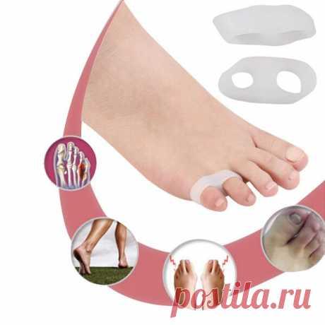 8.71 грн. 45% СКИДКА|1 пара Силиконовый гель маленький гель для пальцев ног выпрямляющий Разделитель с двойной петлей корректор разделитель пальцев