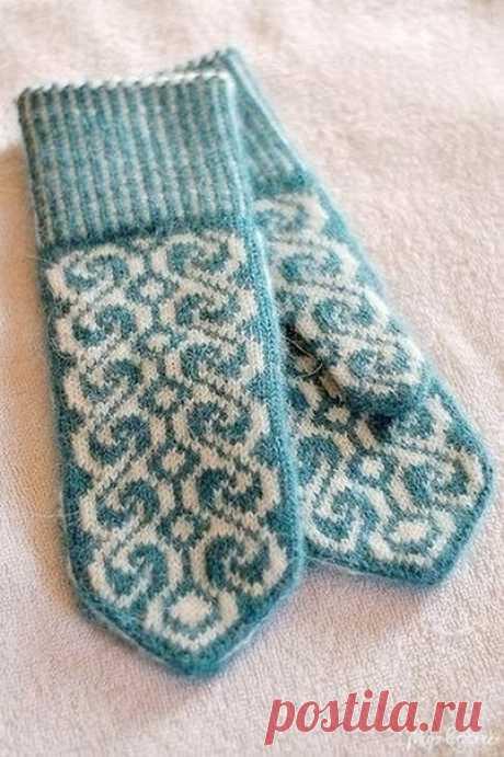 Fair isle mittens spokes