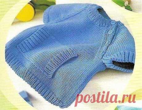 Очаровательный пуловер для малыша
