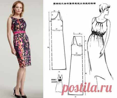 Как сшить сарафан, тунику или платье, выкройки и примеры предлагаемых моделей   Советы модницам