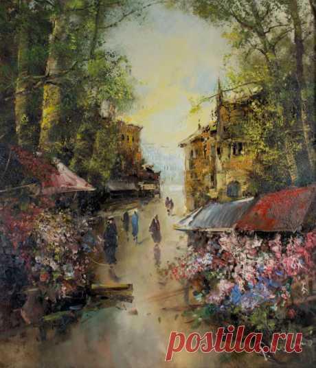 """""""В аккордах зелени старайся усмотреть веселья, тени иль раздумий трель..."""" Немецкий художник Ingfried Paul Henze-Morro (1925 – 2013)"""