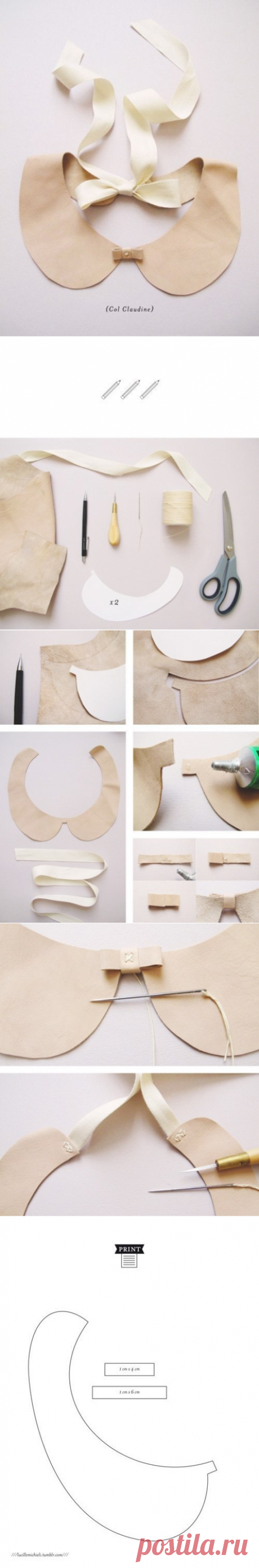 Collar the hands. Template.