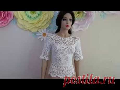 How to Crochet a Lace Blouse - Part 1