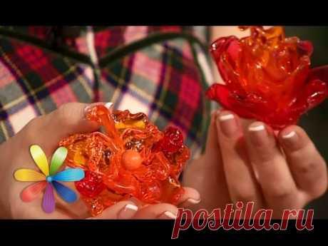 Hacemos el broche-flor de las cucharas de plástico - Todo bude el bien - la Salida 603 - 20.05.15