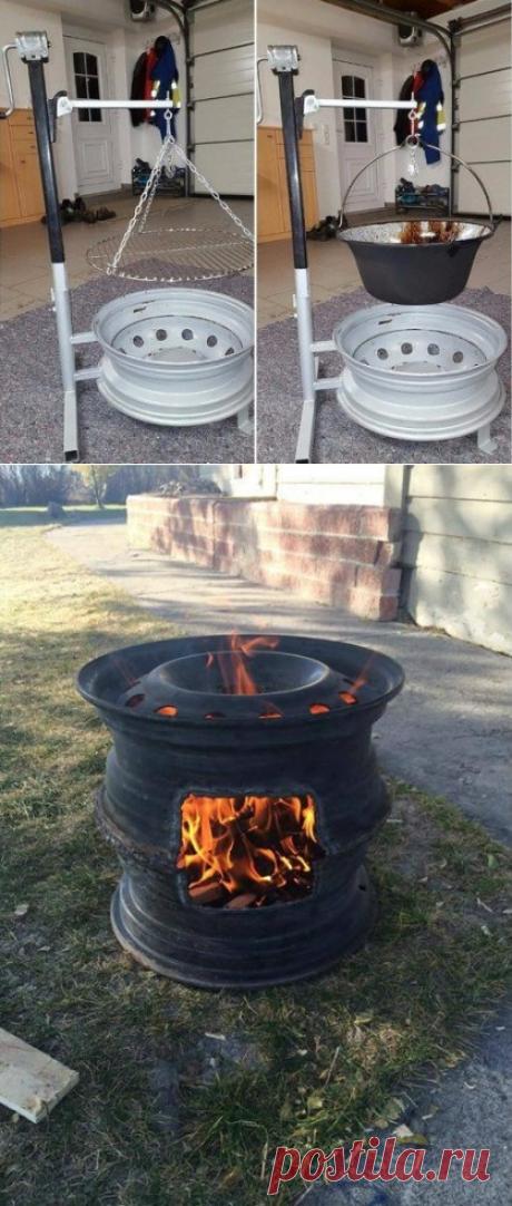 Изготовление очага из колесных дисков — 6 соток
