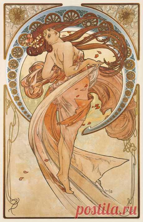 Официальный сайт музея Мухи в Праге  Танец(1898) из цикла, прославляющих четыре  искусства.