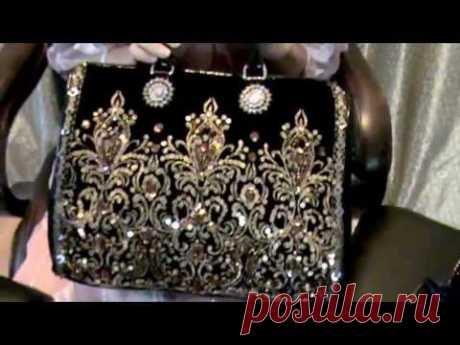 Старинные сумочки вышитые бисером, стразами. Vintage handbags & Ameynra handbag