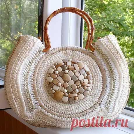 Вязаные сумки крючком, преимущества, виды пряжи, как сделать самому