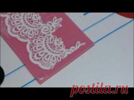 Как сделать гибкое кружево в кружевном коврике для айсинга