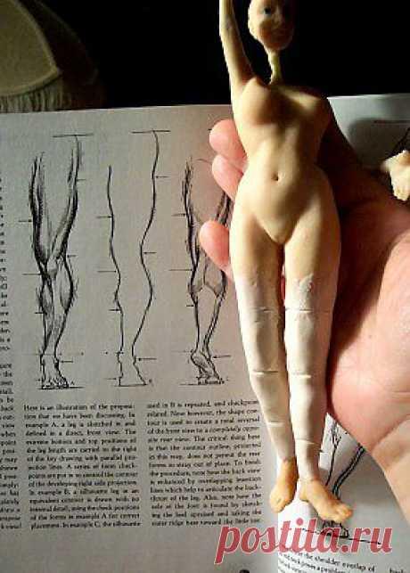 Лепка куклы фото МК. Видео 2 МК по лепке лица из полимерной глины..